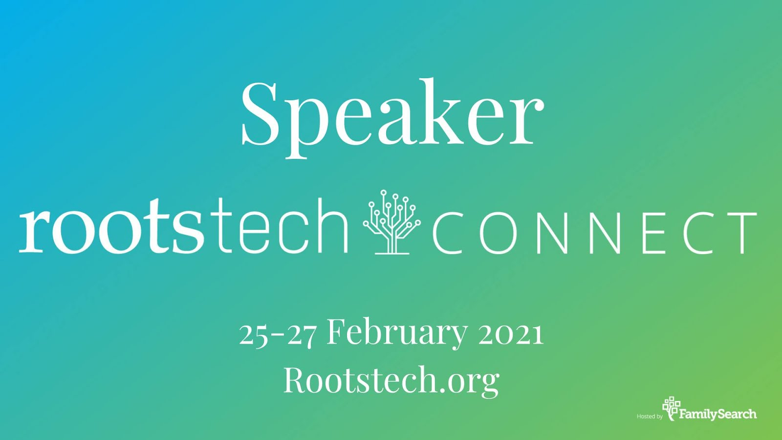 RootsTech Connect 2021 Speaker