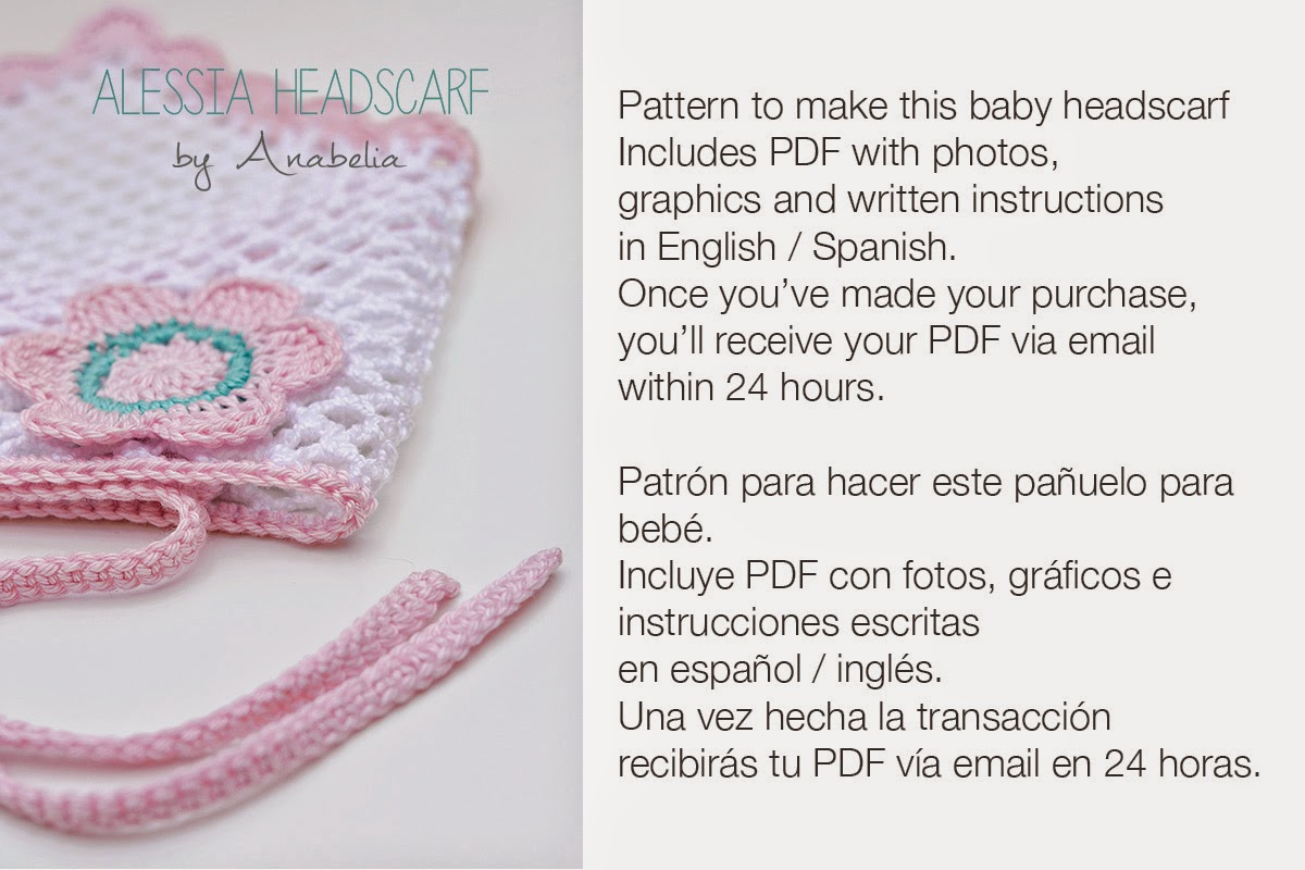 Alessia crochet headscarf pattern by Anabelia
