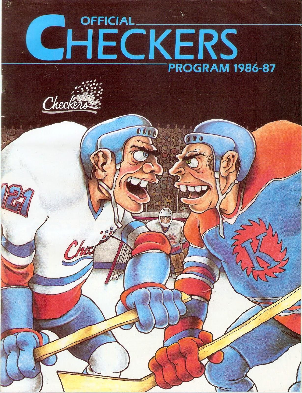 Hockey Programs: Indianapolis Checkers (IHL, 1986-87)