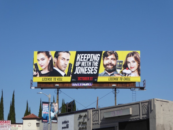 Keeping Up With Joneses film billboard