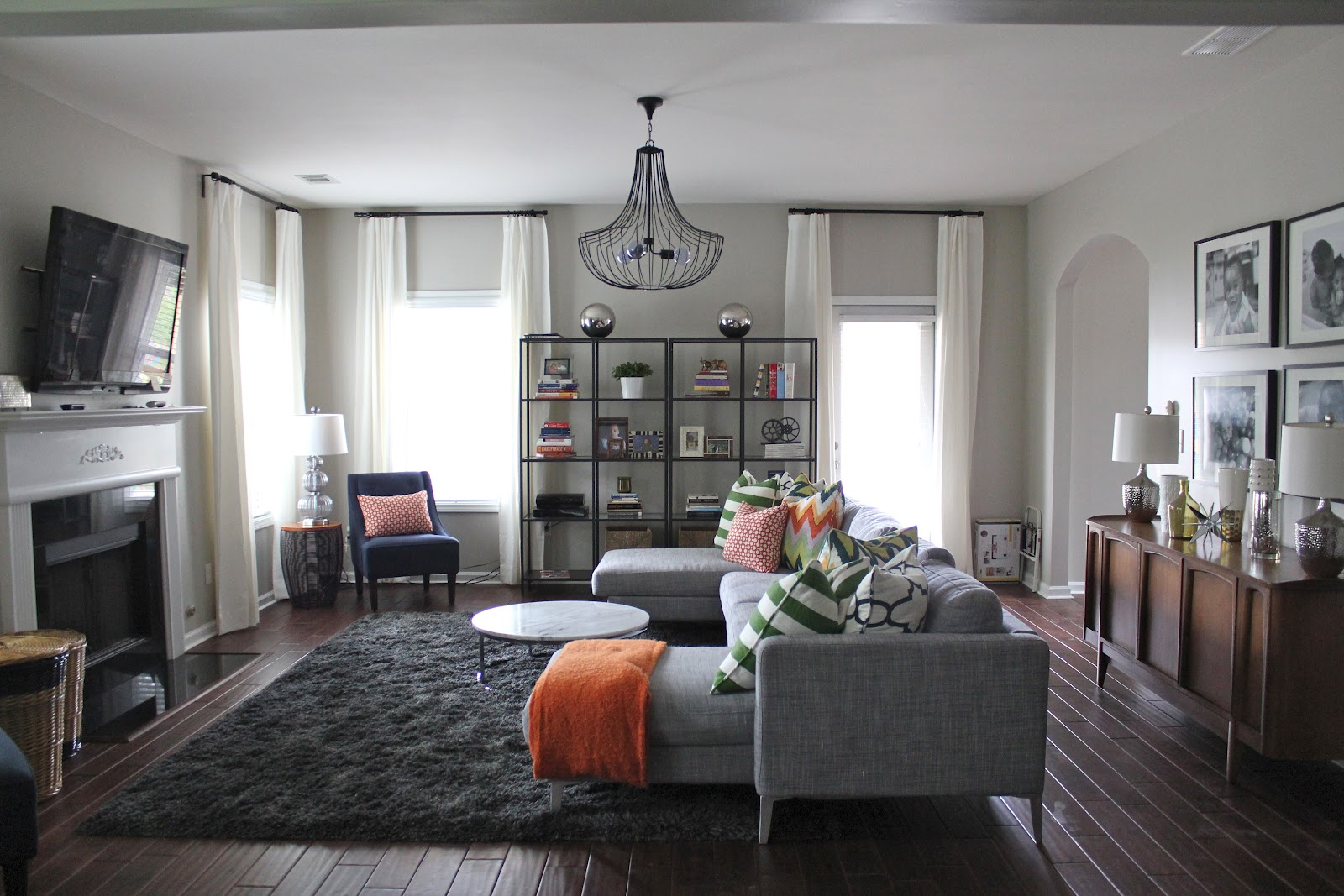 BEFORE & AFTER: MODERN FAMILY ROOM (+ MY DESIGN TIPS ...