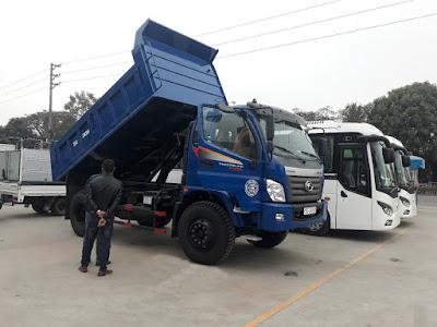 Xe ben Thaco FD9500 tải 9 tấn thiết kế mở bửng tại hải phòng