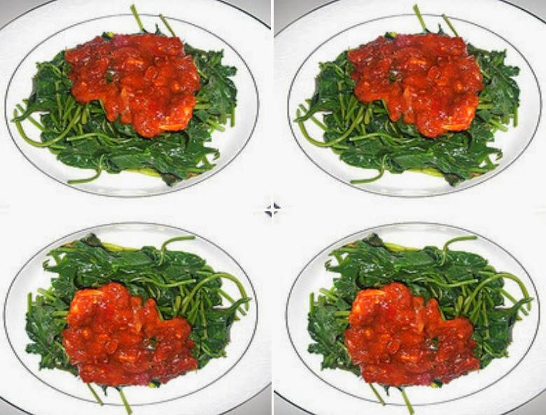 Cara membuat sambal kecap daun ubi jalar