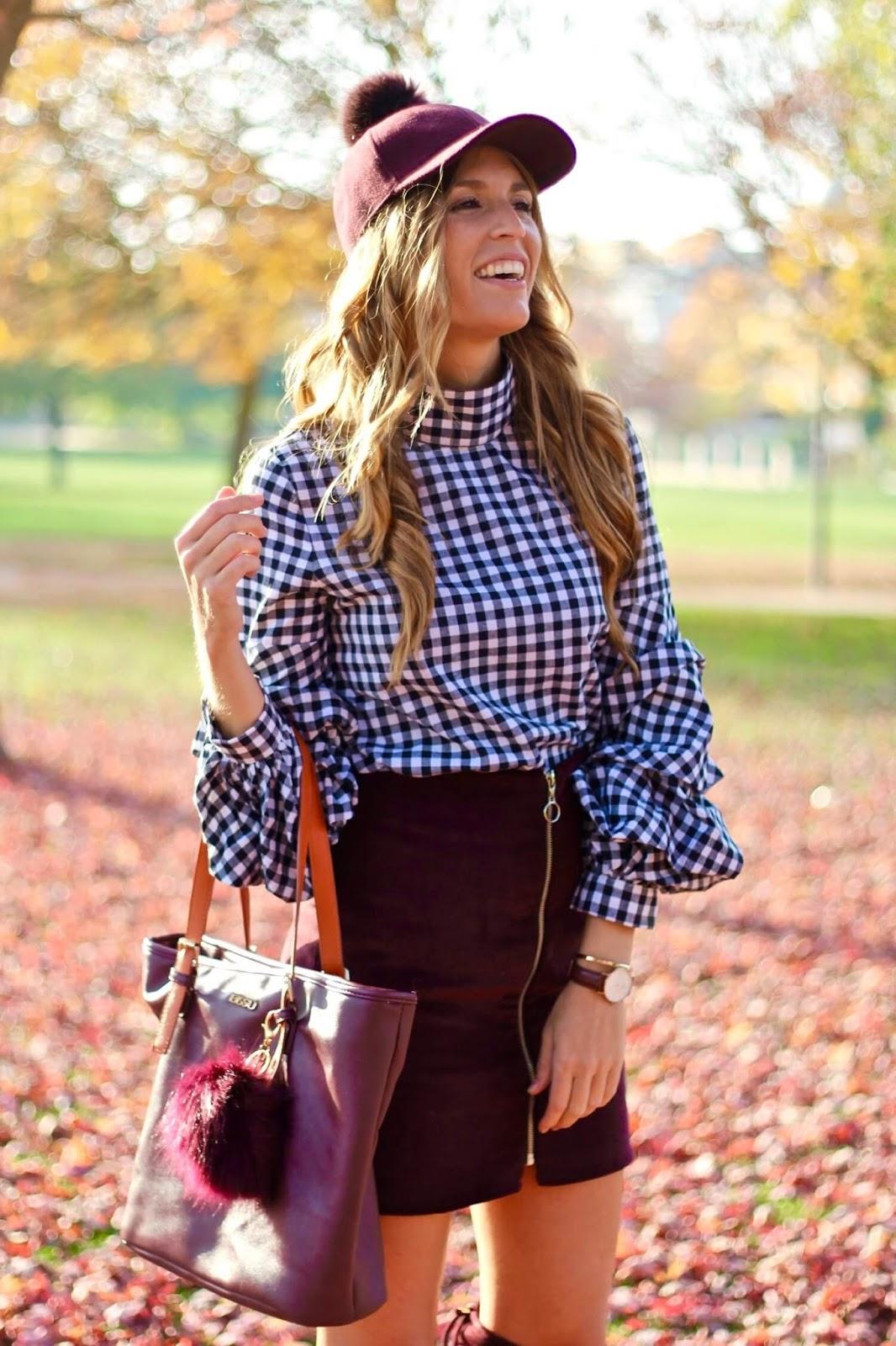 blusa estampado vichy