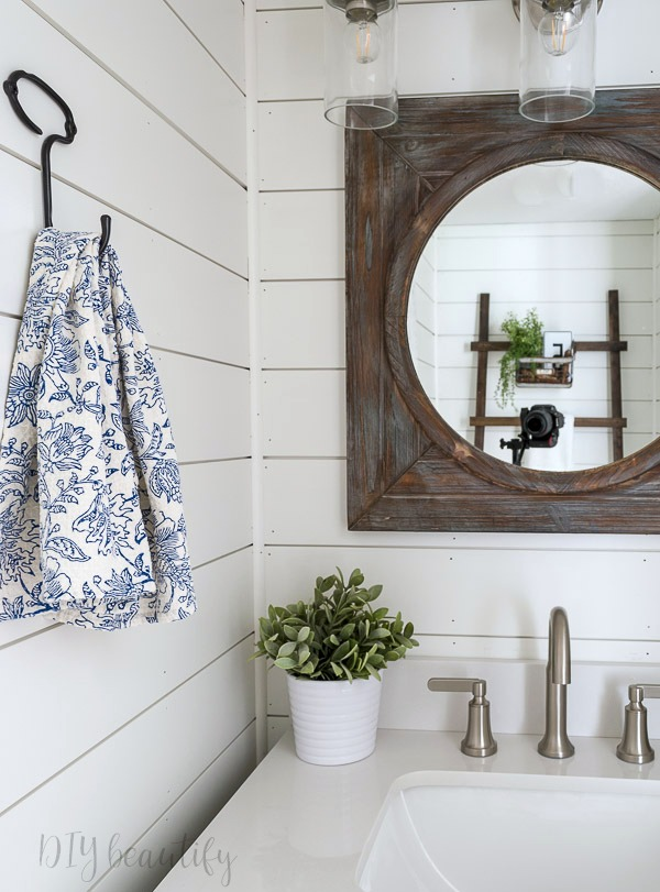 updating a bathroom with modern farmhouse style