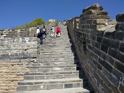 Великая Китайская стена. Лестница на секцию 20