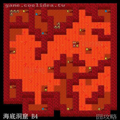 勇者鬥惡龍2地圖 海底洞窟 B4F