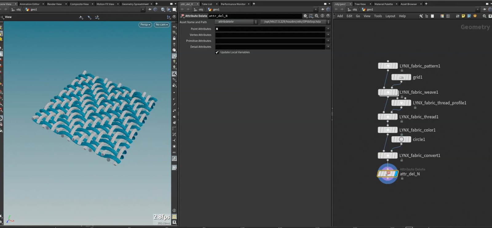 Download LYNX v1 0 for Houdini | Free Fabric Tool by Luca Scheller