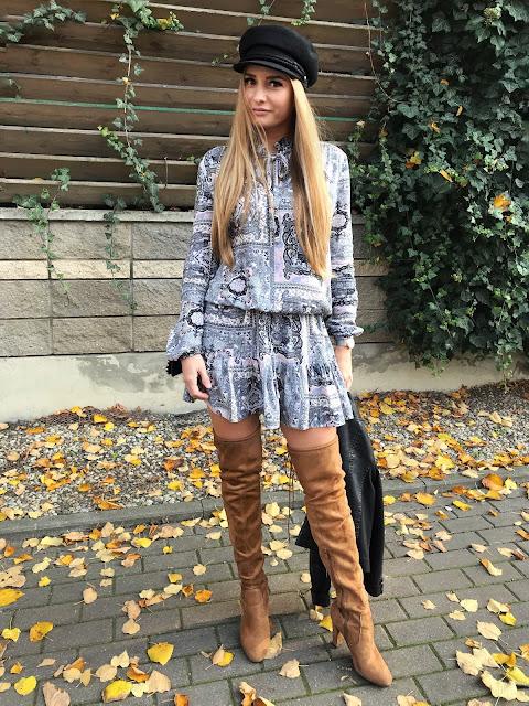 Lekka sukienka na jesień