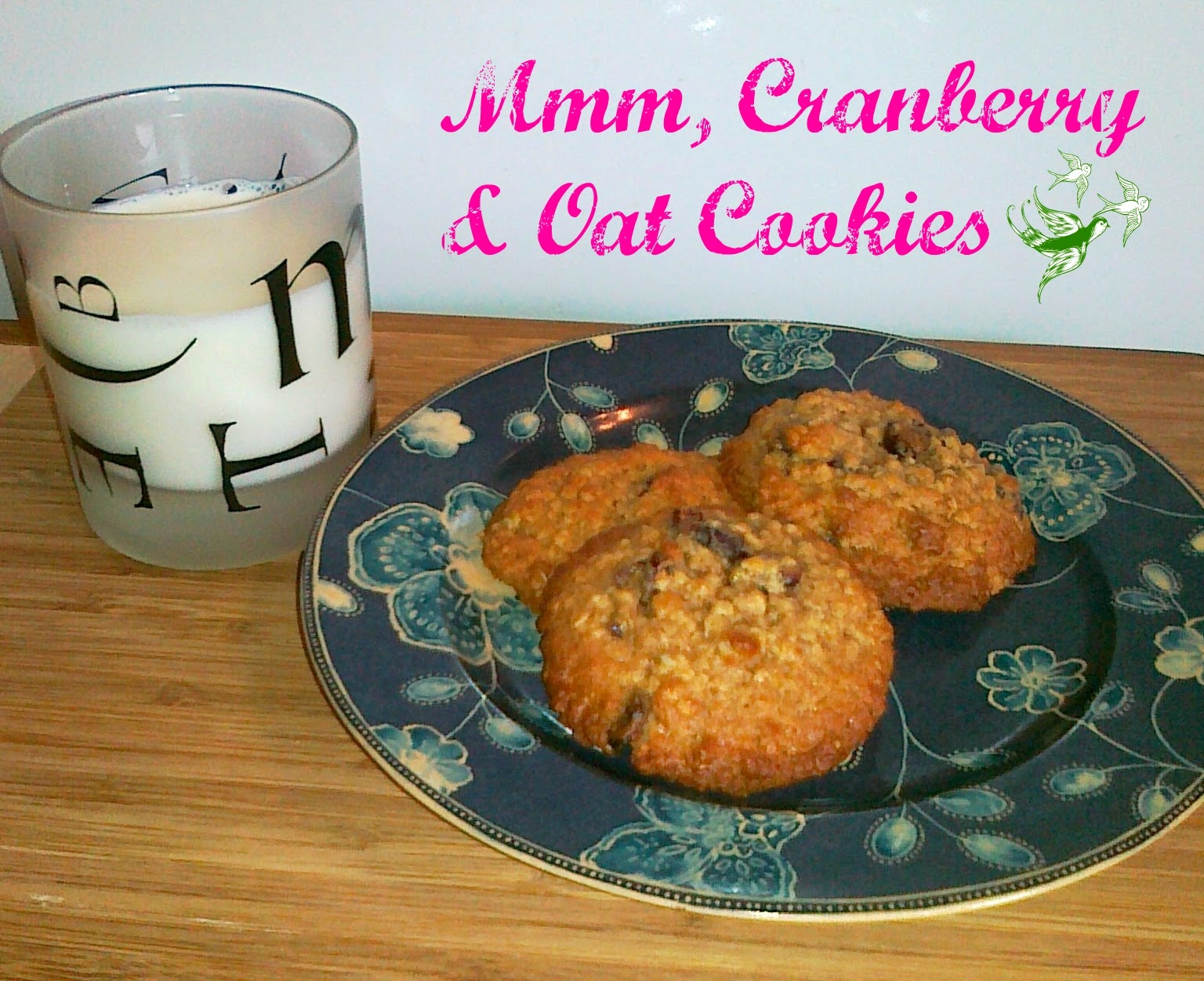Cranberry & Oat Cookies