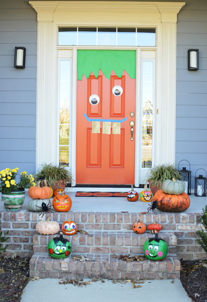 Our Halloween Front Door 2016 - beauty decoration fashion ...