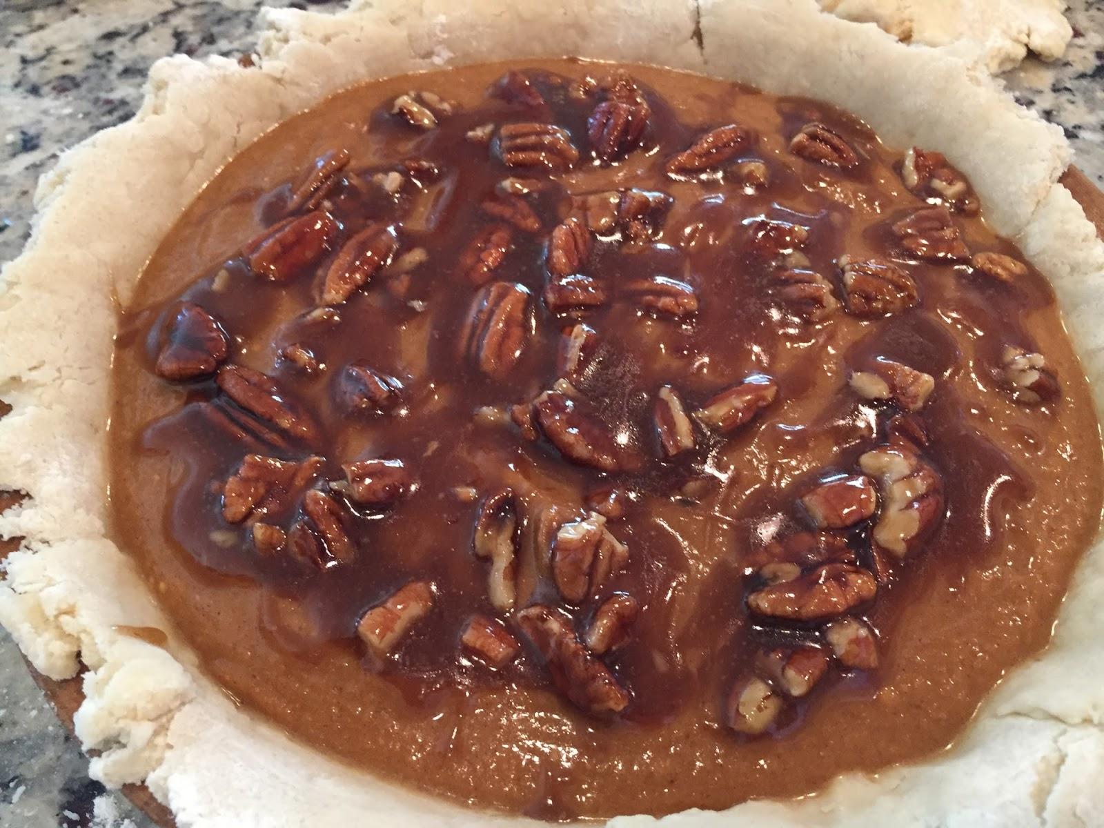 Vegan Pumpkin Pecan Pie + Coconut Oil Crust - Spinach is ...