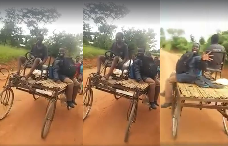 "African kids build ""customized Jeep"" using bicycle parts"