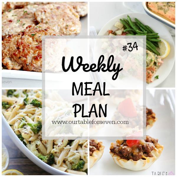 Weekly Meal Plan #34