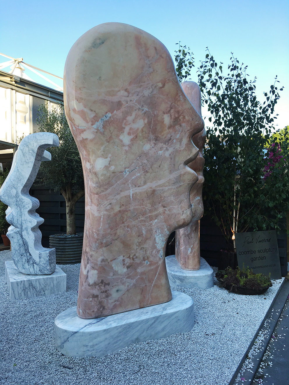 French For Pineapple Blog - RHS Chelsea Flower Show 2017 - Giant Marble Head Sculpture
