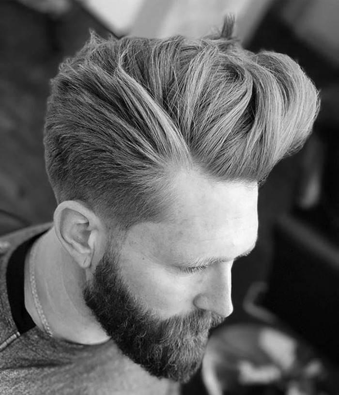 Cortes de cabelo para 2019: pompadour corte de cabelo tendência
