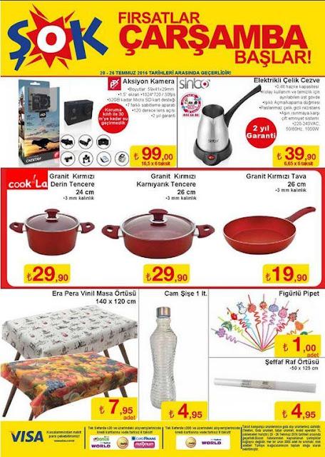 Şok Market 20-26 Temmuz 2016 İndirimli Ürünler Kataloğu - 1