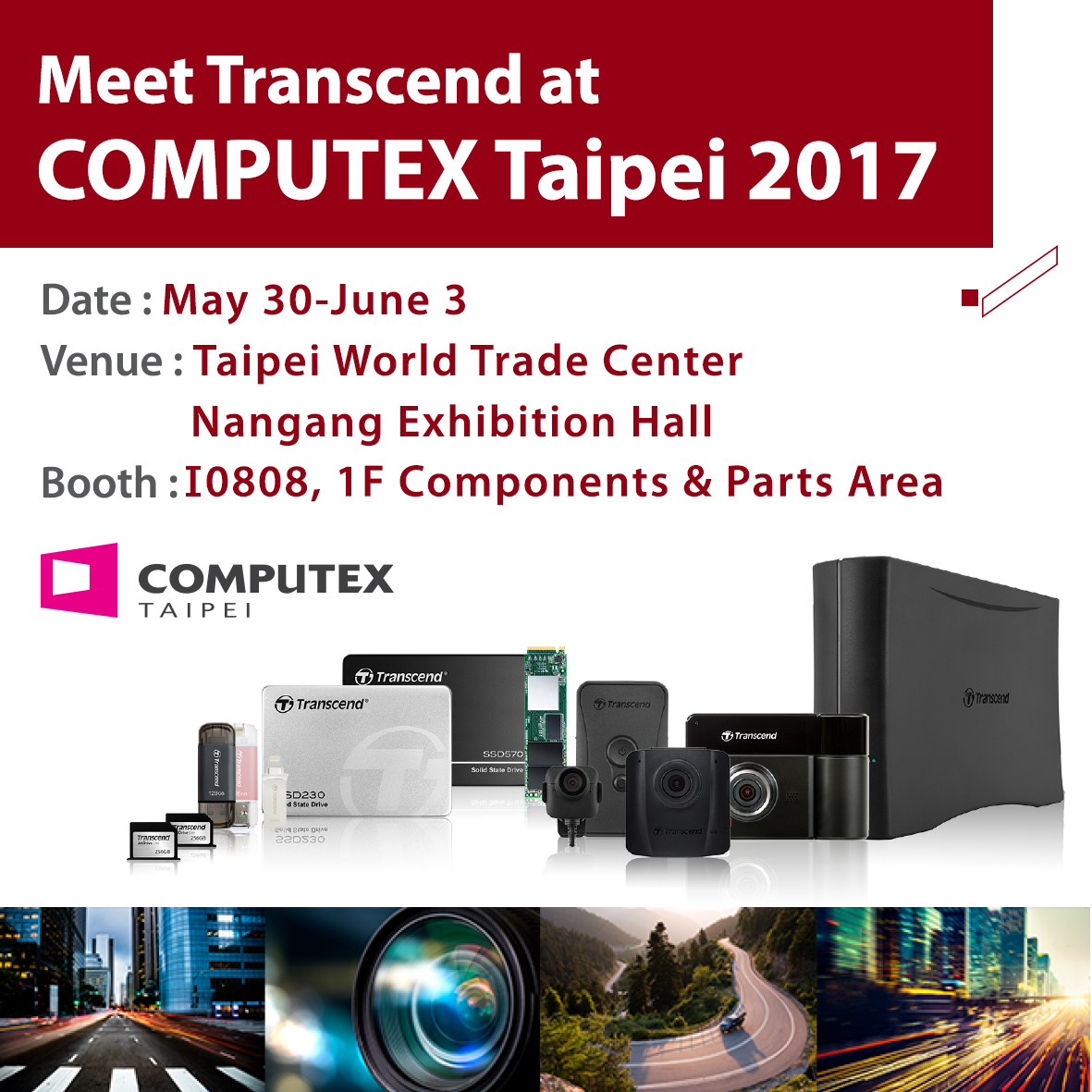 Transcend at COMPUTEX TAIPEI 2017