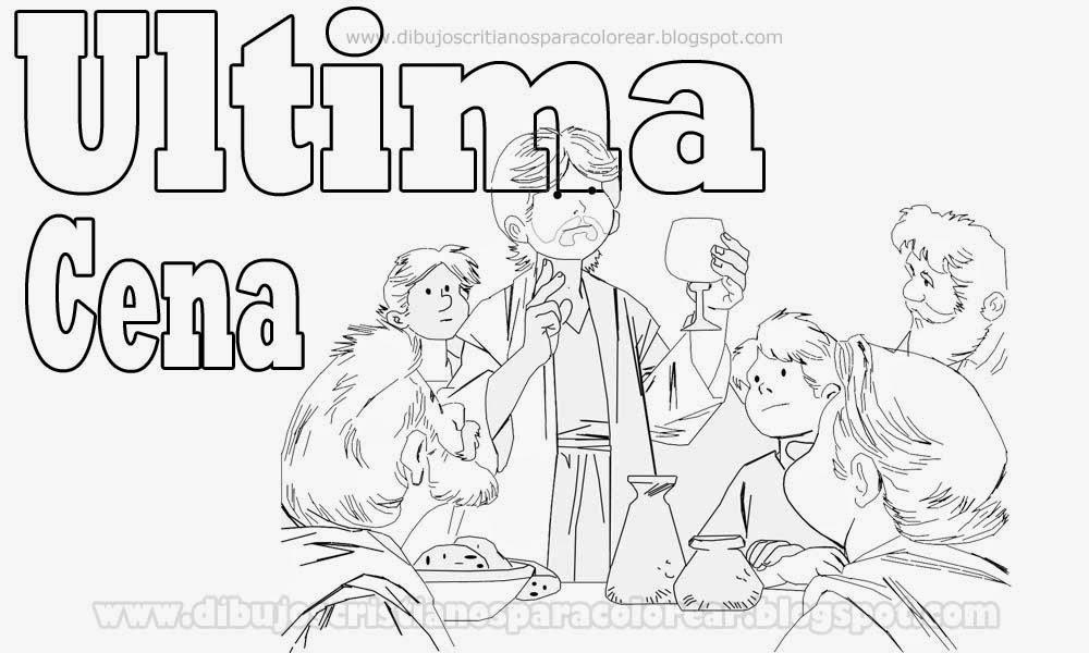 Ultima Cena Colorear Dibujos De Semana Santa Para Colorear