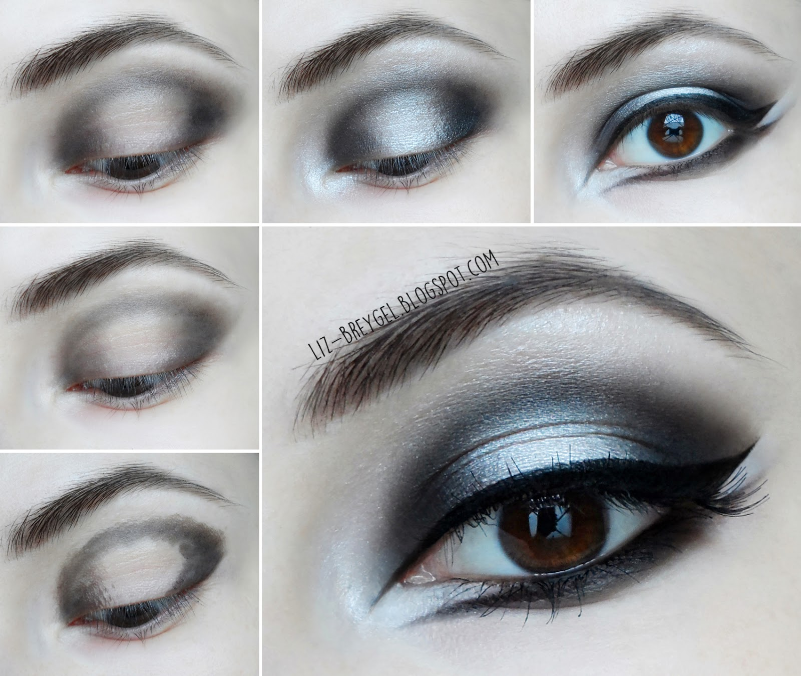 dark gothic smokey eyes halloween with makeup step by step blogger liz breygel makeup 2015