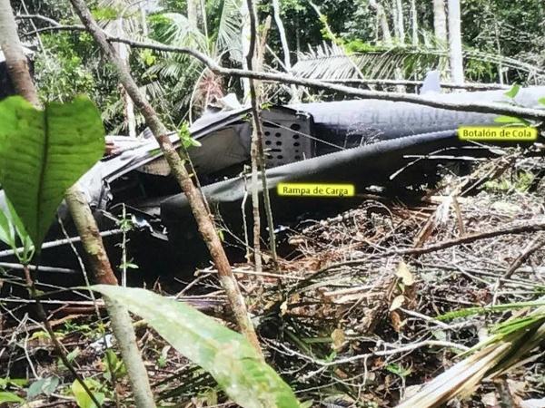 Así quedó el helicóptero extraviado en el Amazonas hace 5 meses