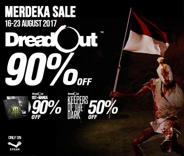 Yah DreadOut siapa coba yang tidak kenal dengan game horror asli buatan Indonesia ini Bertajuk Kemerdekan RI,DreadOut Diskon 90%