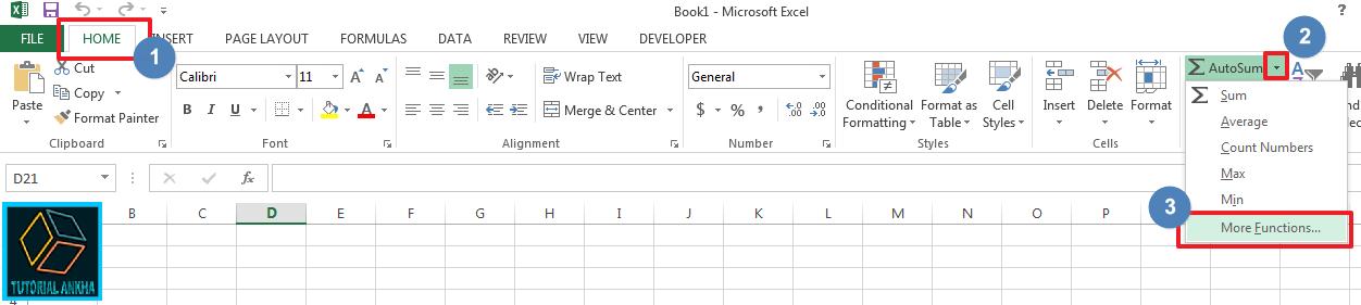 Cara Mengetahui semua nama rumus Microsoft Excel beserta Rumusnya