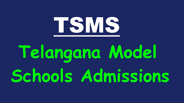 ts telangana model schools admissions 2019,tsms,ts model schools  6th/7th/8th/9th/10th classes admissions 2019,selection test,online application,last date for apply,results,hall tickets,selection list