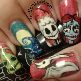 nbc nail art jack and sally