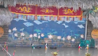 Water puppet show in Yen Duc Village, Dong Trieu, Quang Ninh