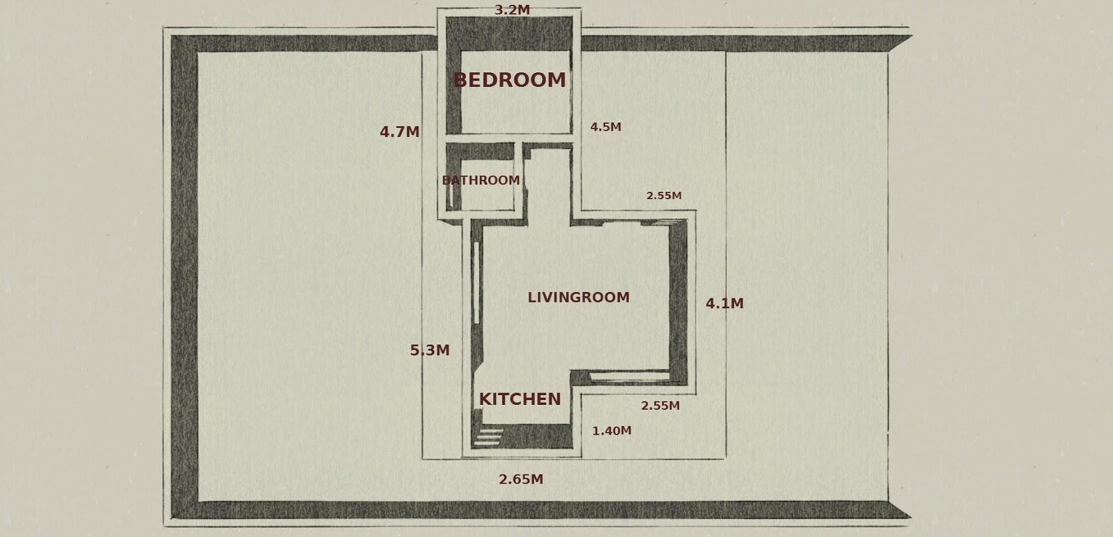 Plano de apartamento de una habitaci n de 40m2 for Diseno de apartamento de una habitacion