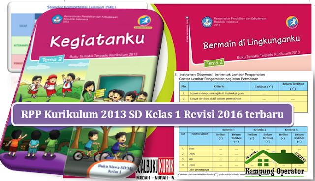 RPP kurikulum 2013 kelas 1 revisi 2016 terbaru
