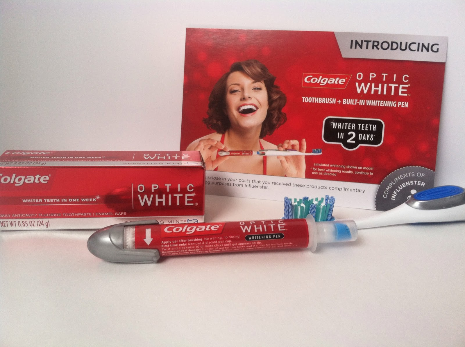 2 Cents Of Ms High Heels Colgate Optic White Toothbrush Built