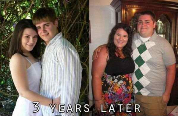 Science Proves: If The Lovers Are Gaining Weight They Are Happy With Their Relationship