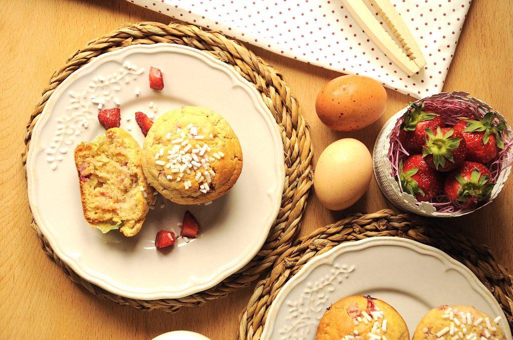 Thermomix strawberry muffins