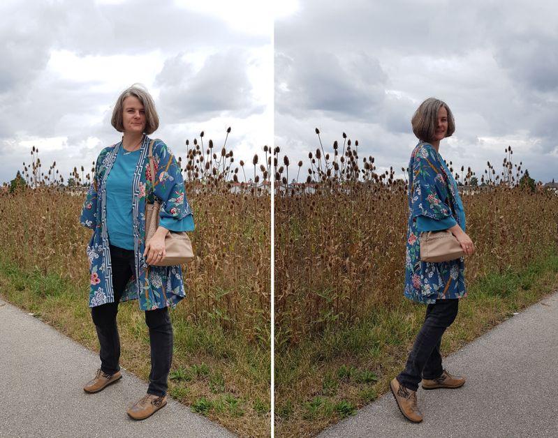 GP & J Baker Kimono spätsommerlich  kombiniert