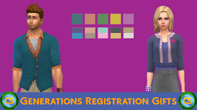 Generations Registration Gifts (3 to 4) ~ Cepzid Sims