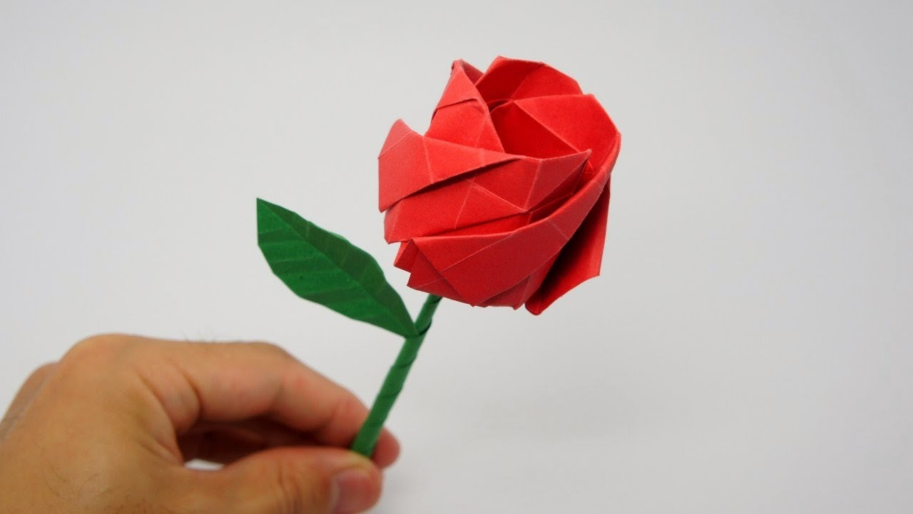 Easy Origami Rose For Kids Origami Animation