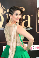 Manjusha in Beautiful Sleeveless Green Anarkali dress at IIFA Utsavam Awards 70.JPG