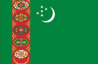 bendera Turkmenistan