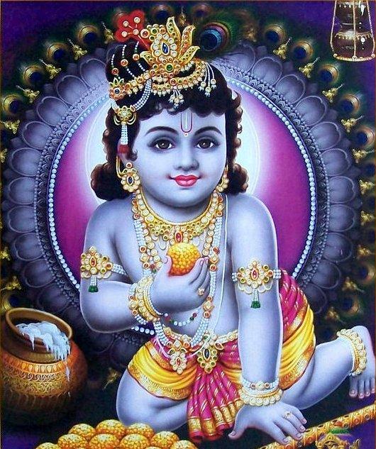 Gods Wallpaper: HINDU GOD WALLPAPERS: Bal Krishna