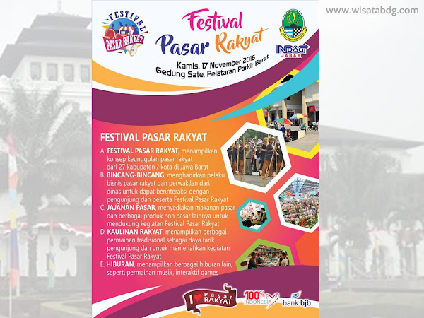 Festival Pasar Rakyat Gedung Sate 17 November 2016