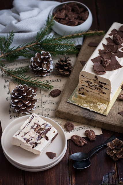 Viennetta à la confiture de lait et noix de pécan caramélisées pour Noël
