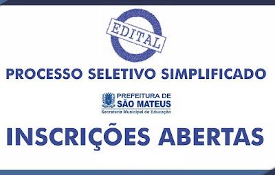 Prefeitura de São Mateus divulga edital com vagas na educação