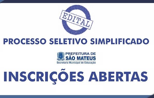 Prefeitura de São Mateus - ES divulga edital com vagas na educação
