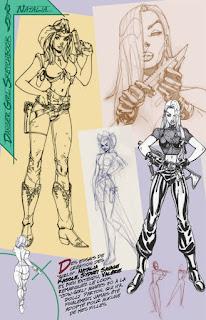 Danger Girl Sketchbook - des croquis, recherches et esquisses
