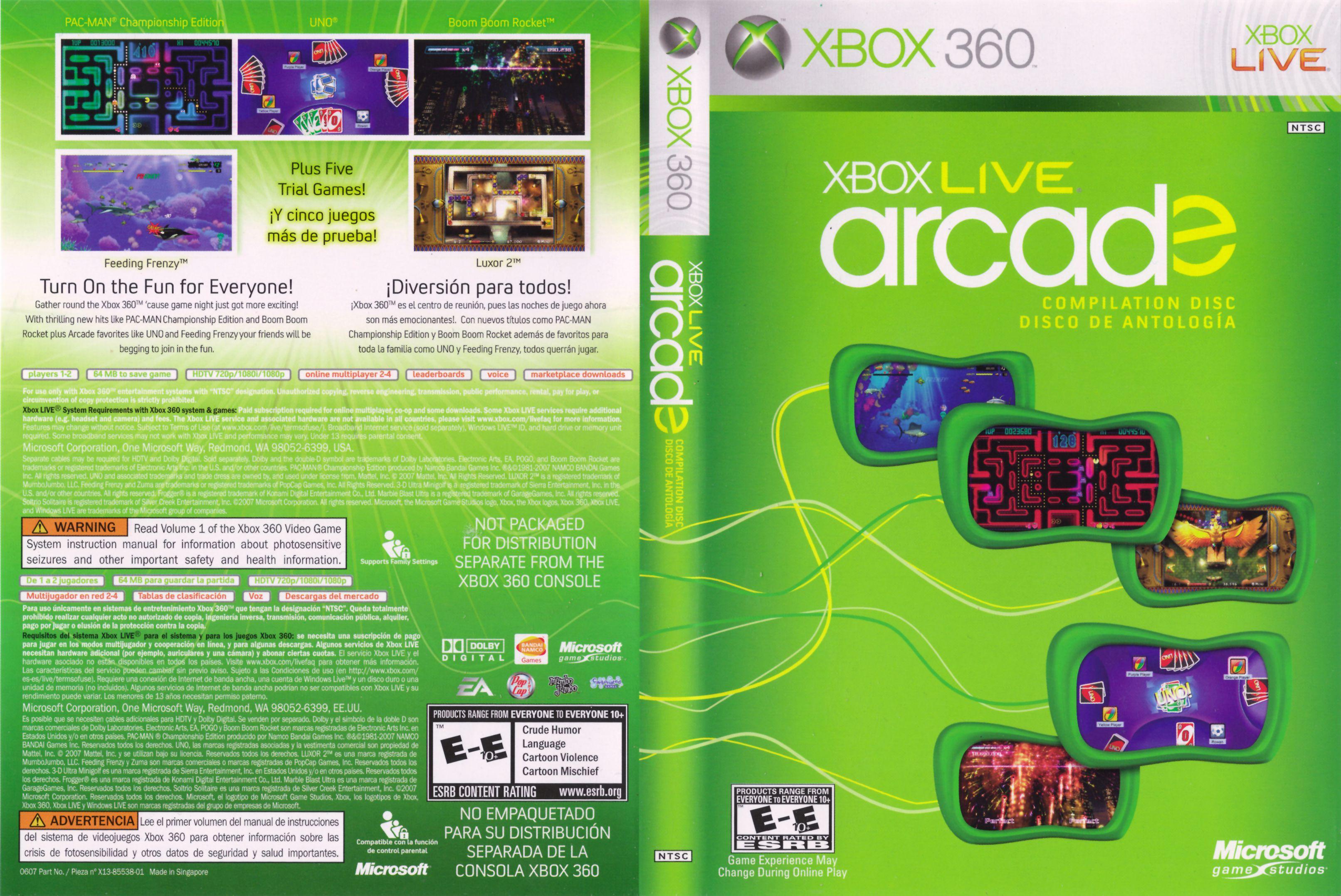 Xbox Live Arcade Fun Games Movie By Genre