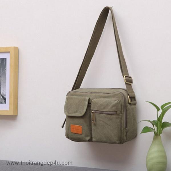 Túi đeo chéo nam đẹp vải bố cá tính VF279
