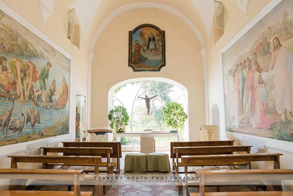 Inside of San Pietro church