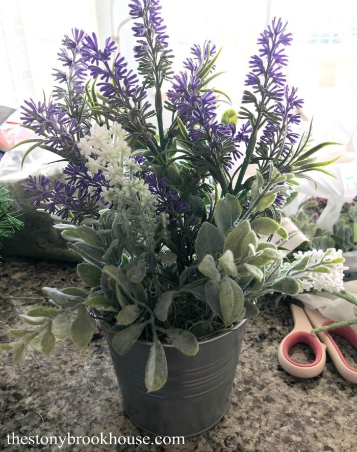 Adorable Floral Lavender Pot